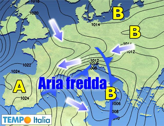 Meteo, arriva la terza irruzione artica sull'Italia: crollo termico