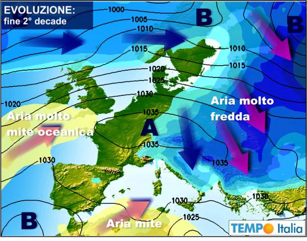 Cartina Meteorologica Dell Italia.Meteo Estremo Con Marcate Anomalie Climatiche In Buona Parte D Europa Notizie Meteo Di Tempo Italia