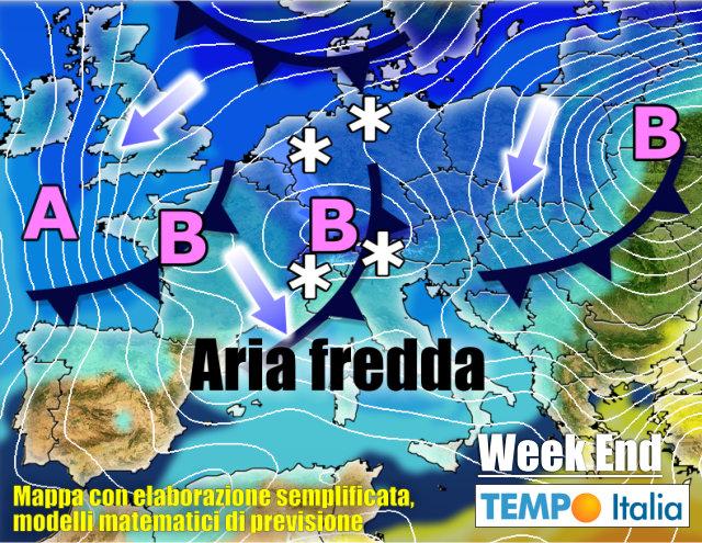 Meteo Italia Cartina.Meteo Italia Inverno Protagonista Di Febbraio Frequente Maltempo E Neve Notizie Meteo Di Tempo Italia