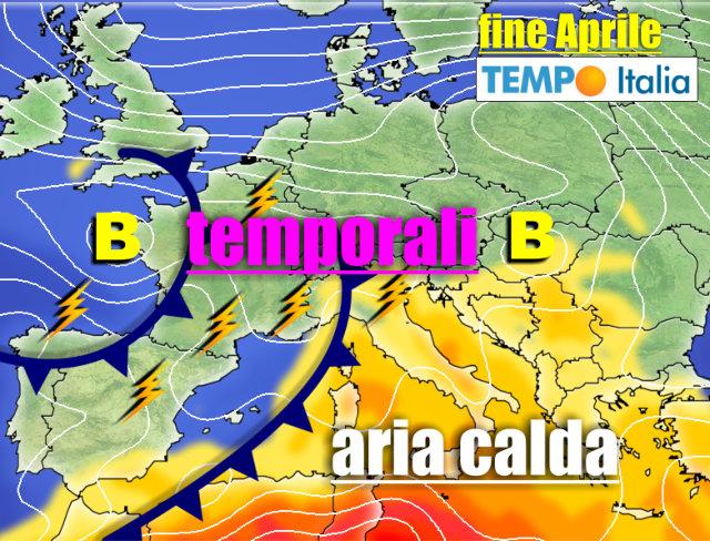 Meteo verso il 30 aprile anomalie pesanti per caldo e temporali notizie meteo di tempo italia - 3b meteo bagno di romagna ...