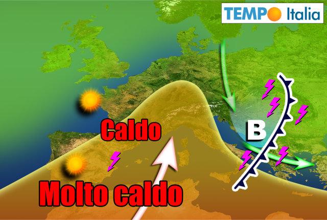 Meteo: temporali e grandine in arrivo, poi torna il caldo