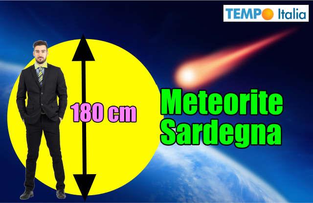 Meteorite sulla Sardegna, esplosione da 0,1 chilotone