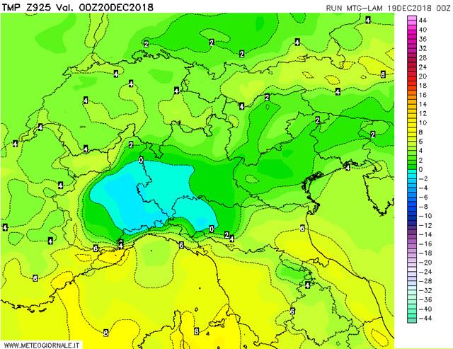 Cartina Meteorologica Dell Italia.Neve Al Nord Ultimissime Meteo Mappe Per Oggi E Stanotte Notizie Meteo Di Tempo Italia