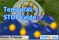METEO Italia: siamo in ondata di caldo. Temporali week end