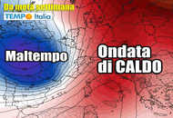 Meteo: ITALIA spaccata in due fra un CALDO SOLE e TEMPORALI
